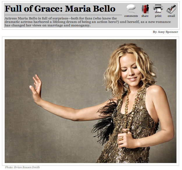 Maria Bello in Page Six magazine, July 27, 2008